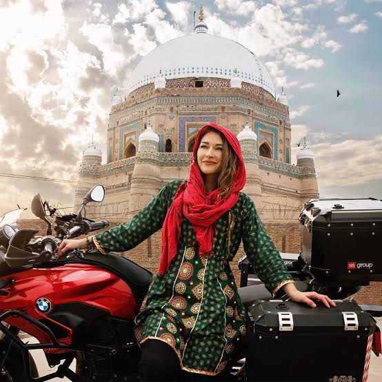 Rosie Gabrielle travelled from Canada to Pakistan alone on a heavy bike