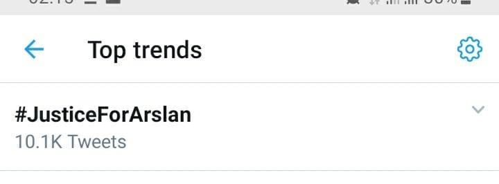 justiceforarslan became top trend on Twitter
