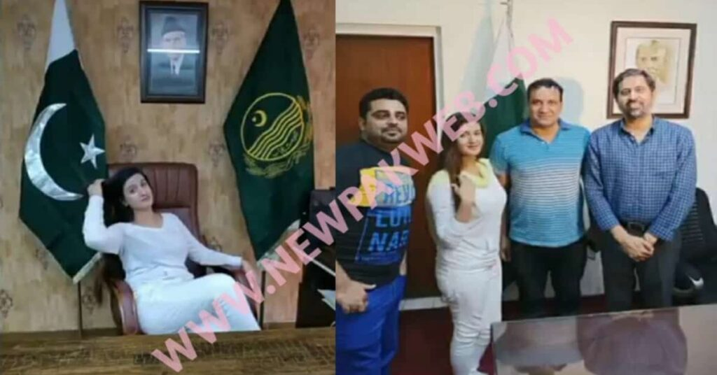 TikTok star Aleeze dance video and pictures in the office of Provincial minister Fayyaz ul Hassan Chohan