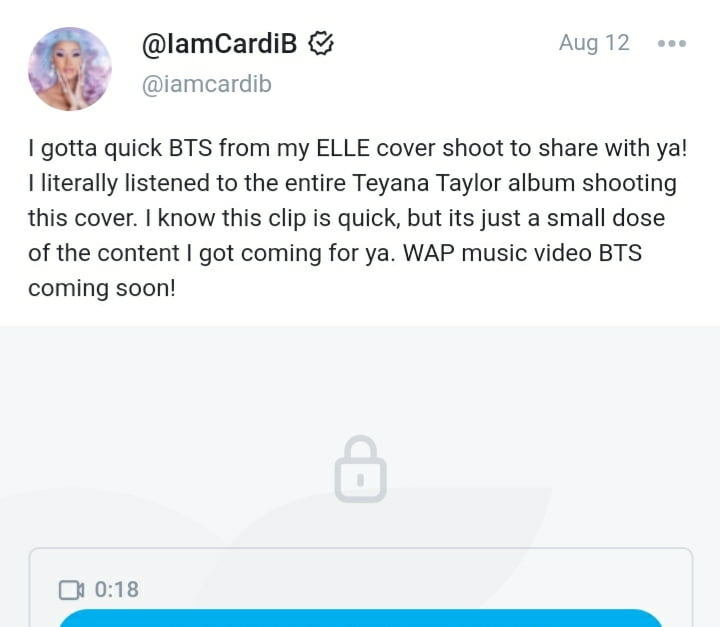 Cardi B Onlyfans leaked, first post