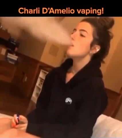 TikTok star Charli D'amelio vaping video leaked