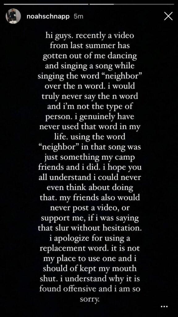 Noah Schnapp denies the allegations of saying N word
