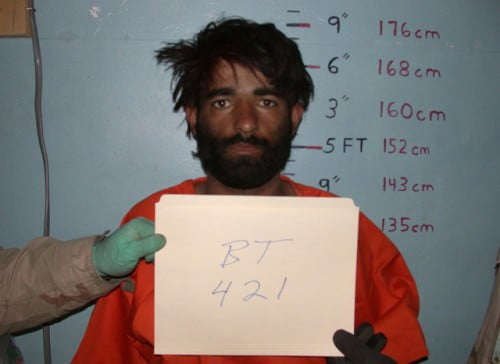 Dilawar in the custody of US military at Bagram military prison