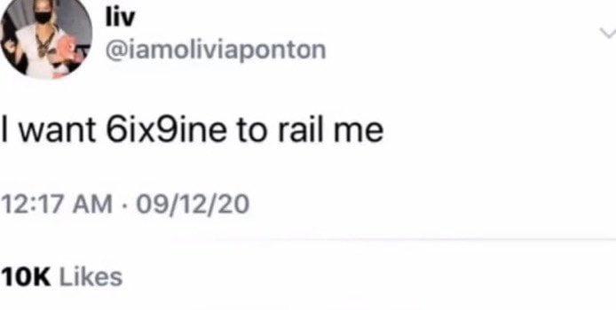 Olivia Ponton's deleted tweet about Takashi Six Nine