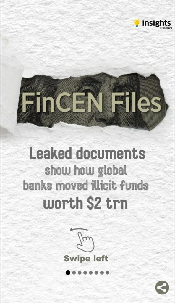 Leaked documents of FinCEN files reveals the flow of dirty money
