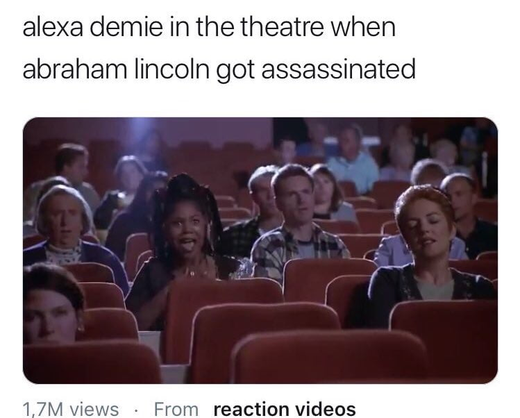 Alexa Demie at the time of Assassination of Abraham Lincoln