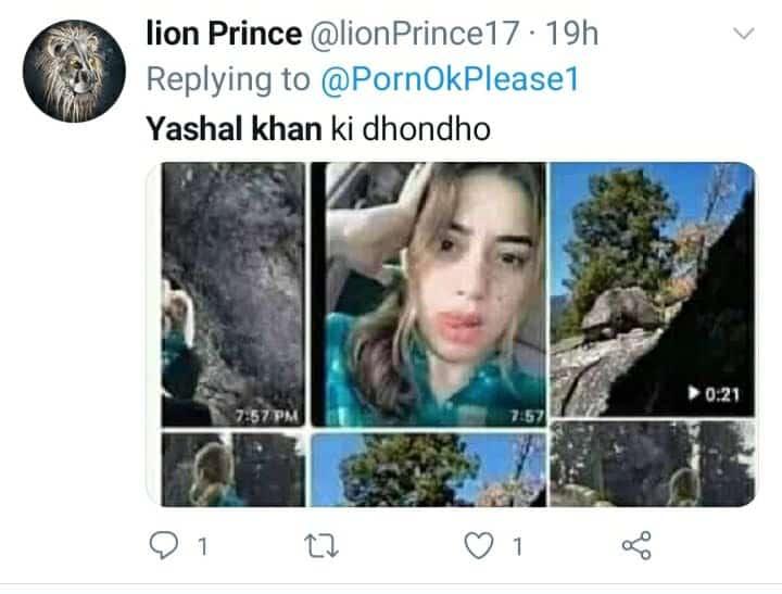 Twitter user asking for Yashal Khan's leaked video (Murree viral video)