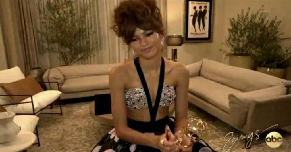 Zendaya speaks after winning Emmy award