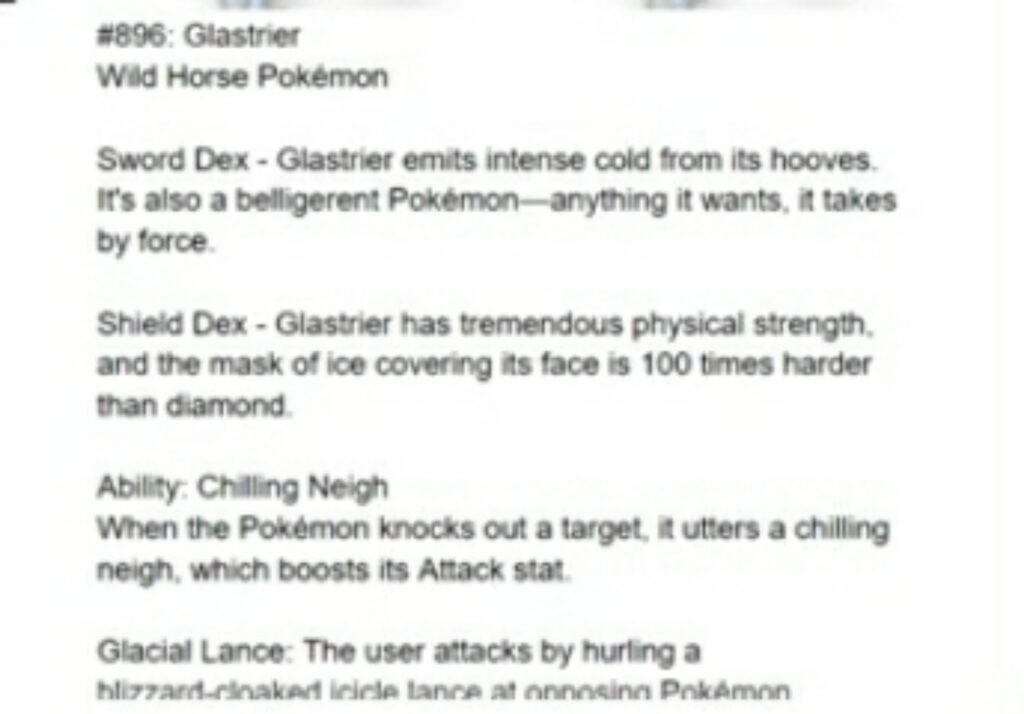 names for brand new horse legendary pokemon as well as their signature moves and pokedex entries
