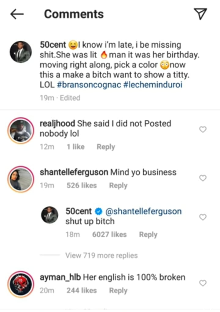 50 CENT reacts to Cardi B's leaked photo