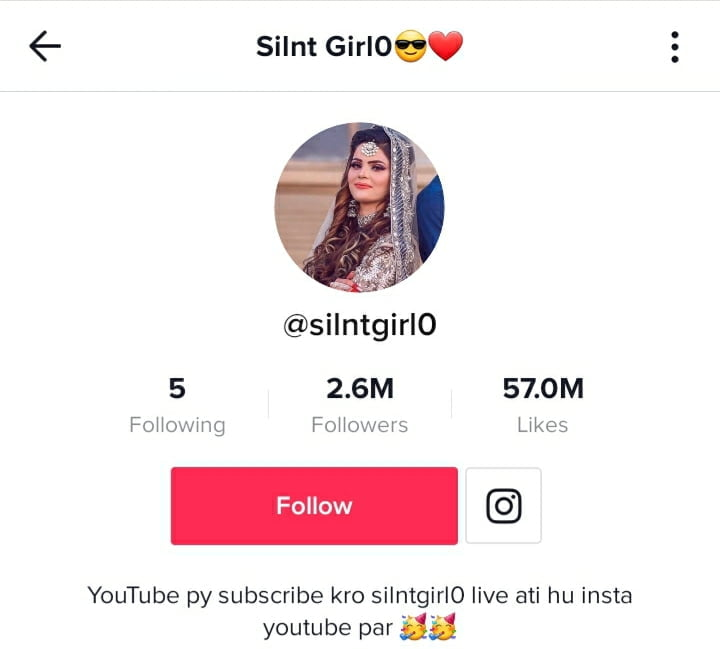 Silent Girl's TikTok Profile