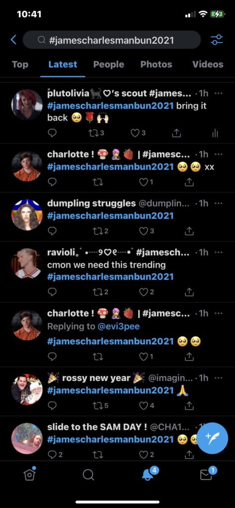 James Charles trends on Twitter and people ask him to change his haircut in Manbun hairstyle