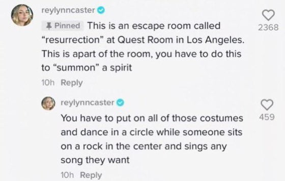 """TikTok user explains Ariana Grande's deleted Instagram story video and says she was playing a game """"Summon the spirit """""""